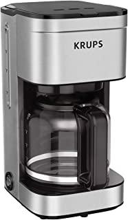KRUPS به سادگی قهوه ساز فیلتر 10 قطره قطره قطره قطره قطره روی آب با نقره ، 10 فنجان / 50 اونس مایع