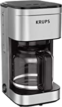KRUPS Simply Brew Family 10 Cup Drip Filter Coffee Maker with Stainless Steel Finish, silver, 10 cups/ 50 fluid ounces