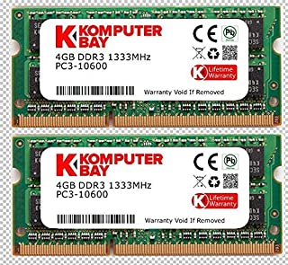 Komputerbay 8GB (2x 4GB) DDR3 SODIMM (204 pin) 1333Mhz PC3-10600 (9-9-9-24) ラップトップ Notebook コンピューターメモリ for Apple Mac Mini