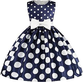 Tsyllyp Girls Sleeveless Ice Cream Print Round Neck Cotton Party Dresses 3-8Years