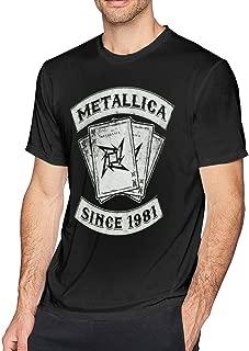 Mens Fashion Metallica SINCE1981 T Shirt Black