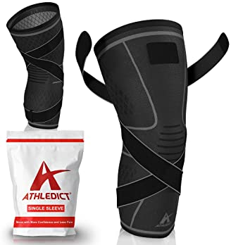 Knee Brace Compression Sleeve with Strap for Best Support & Pain Relief for Meniscus Tear, Arthritis, Running, Basket...