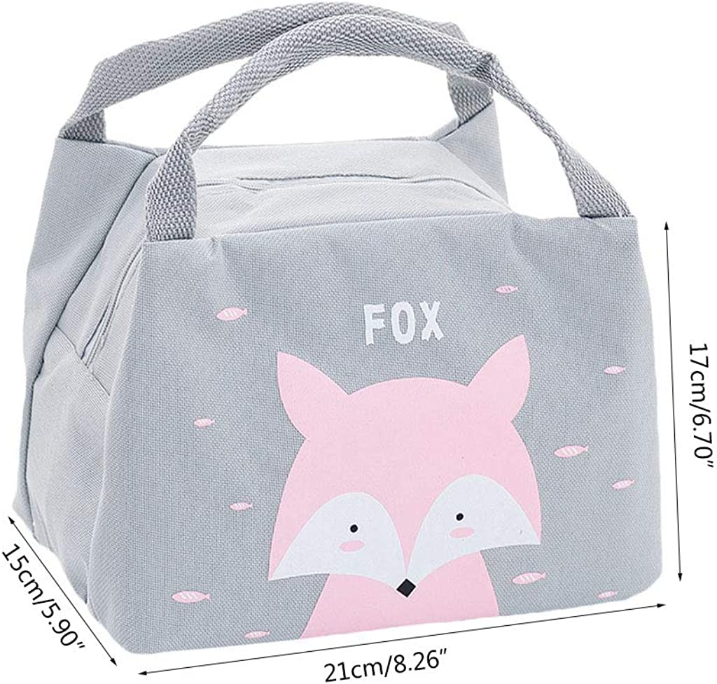 Museourstyty Lunch Bag Cartoon Thermal Insulated Cooler Lunch Portable Picnic Storage Handbag