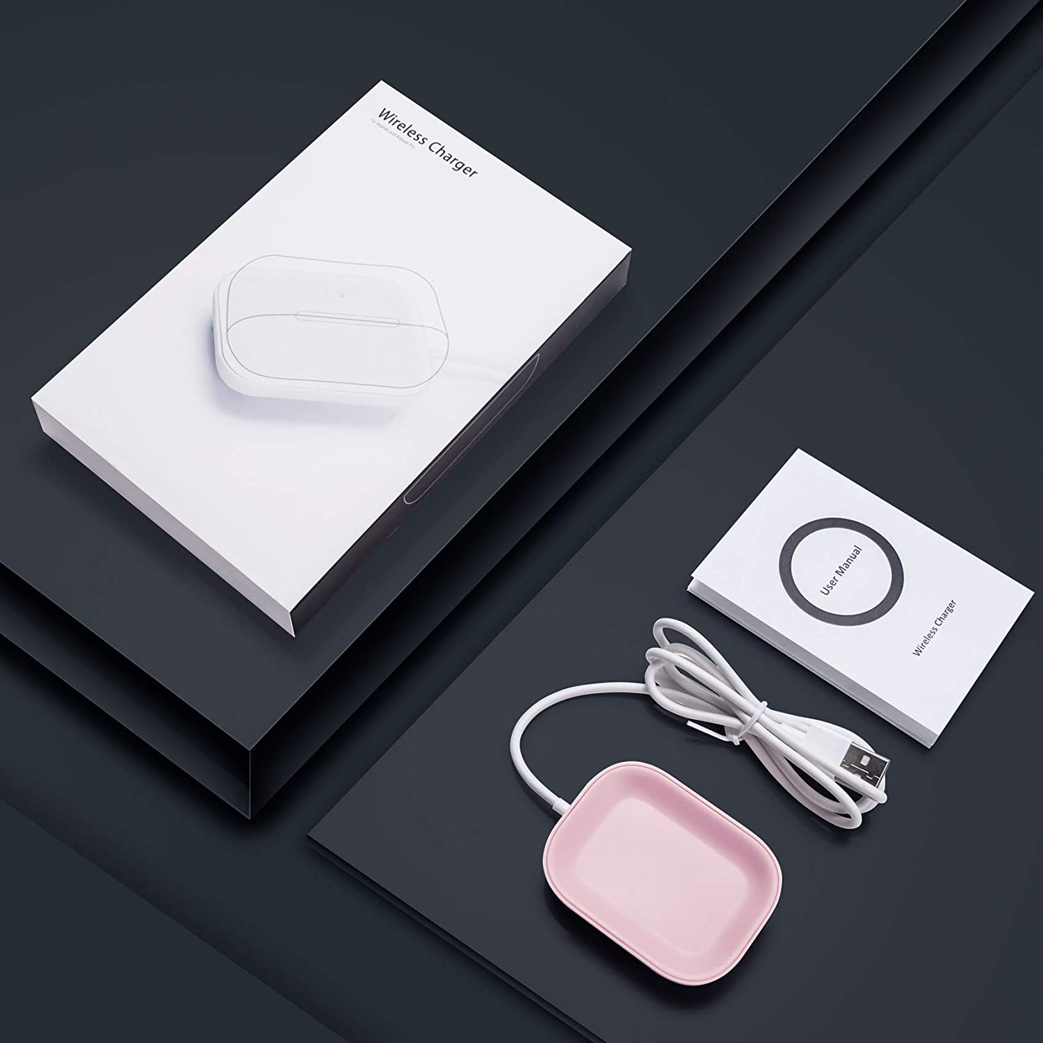 Wireless Charging Pad for Samsung Galaxy Buds//Earbuds Black-1 FutureCharger Wireless Charger for Samsung Galaxy Buds+Plus Wireless Bluetooth Galaxy Buds Charging Station Wireless Earbuds Charger