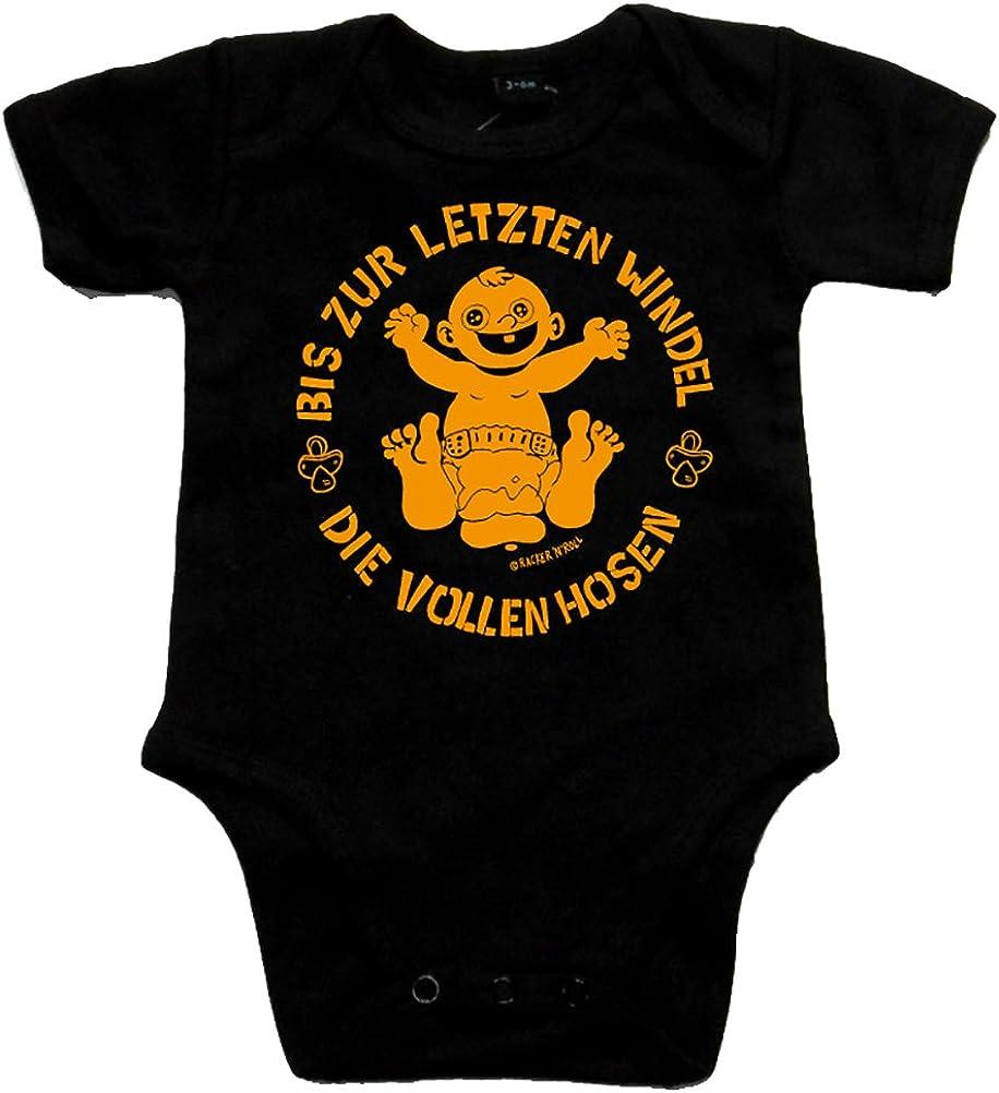 DIE VOLLEN Hosen Bis zur letzten Windel Black Baby-Body schwarz//orange