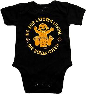 Racker-n-Roll DIE VOLLEN Hosen Bis zur letzten Windel Black Baby-Body schwarz/orange