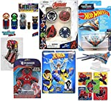 Star Mini Super Pack Marvel Heroes Milano Guardians Galaxy Ship Bundled with Heroes X-Men Blind Box Domez + Wooden Root / Rocket / Gamer / Star Lord + Pins Hydra / Agents / & Web Stickers 4 items