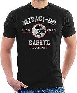Yuanmeiju Miyagi Do Karate Kid Wax on Wax Off Camiseta para Hombre