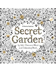 Secret Garden an Inky Treasure Hunt and Coloring Book with 36 Colors of Pencils