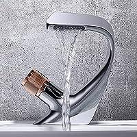 ソリッドな真鍮のシングルハンドル洗面所の虚栄心のシンクの蛇口、バスルームのシンクの蛇口のシングルホール