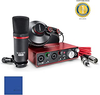 Focusrite Scarlett 2i2 Studio Pack Second Generation (2nd Gen) with Pro Tools | First & 1 Year Free Extended Warranty