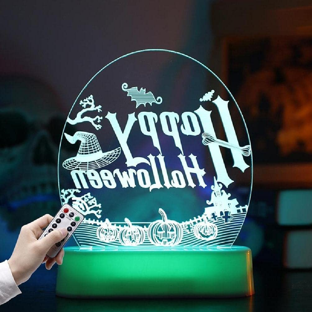 LED Night Lights 3D Lamps Pumpkin Sign and Operate NEW before selling ☆ Max 64% OFF Battery Ghost
