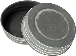 Antique Zinc Vintage Reproduction Mason Jar Lids (4 Pack, Wide Mouth)
