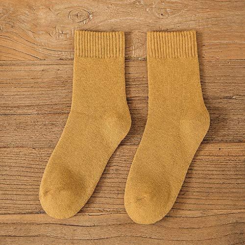Calcetines de Invierno para Mujer,más cálido, Grueso, Lana térmica, Cachemir,Botas deNieve,Calcetines para Dormir en el Suelo, para Hombre, Color sólido, Suave, Moda Chica