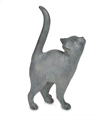 Polyresin Decorative Cat Kitten 7.6L x 4W x 14.5H inch