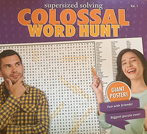 Supersized Solving Colossal Word Hunt Puzzle Giant Poster, Volume 1 - Over 3ft Wide!
