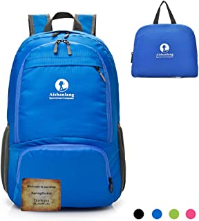 Packable Foldable Folding Daypack Backpack - Durable Lightweight Packable Backpack, Water Resistant Travel Hiking Daypack for Outdoor Travel Sport Beach - 30L