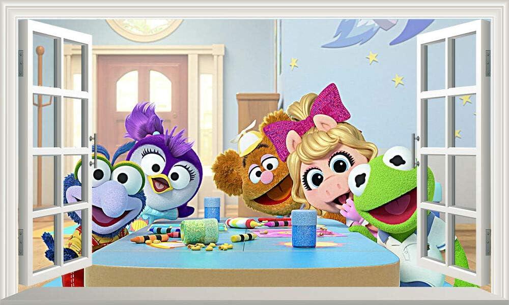 Diuangfoong Muppet Babies Popular standard Magic Window Wall Self Ranking TOP19 Art St Adhesive