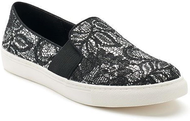 Sugar Women's Izette Glittered Lace Slip-On Sneaker