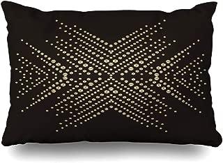 Ahawoso Throw Pillow Cover 20x26 Inches Snowflake Motif Rhinestone Applique Print Textile Clothes Rhinestones Abstract Beauty Bead Fashion Decorative Pillowcase Home Decor Cushion Pillow Case