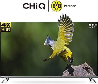 CHiQ U58H7 4K LED Smart TV, UHD, 58 Inch, Android 9.0, HDR10, A+ Screen, WiFi, Bluetooth 5.0, Netflix, YouTube, Prime Video, Full screen display, HDMI, USB