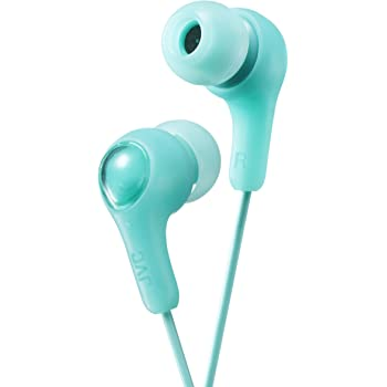 JVC Gumy in Ear Earbud Headphones, Powerful Sound, Comfortable and Secure Fit, Silicone Ear Pieces S/M/L - HAFX7G (Green)
