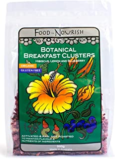 Food to Nourish Food to Nourish Organic Hibiscus Lemon and Blueberry Breakfast Clusters 500 g
