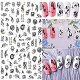 HONGTAO 10 Sheet Chinese Characters Calligraphy Nail Sticker Dragon Tiger Phoenix Self Adhesive Nail Art Decorations Personalities Nail Sticker Decals