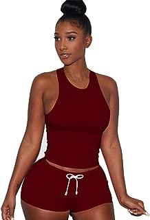Vest Short 2 Piece Set Women Sleeveless Split Pants Casual Outfit Sportswear