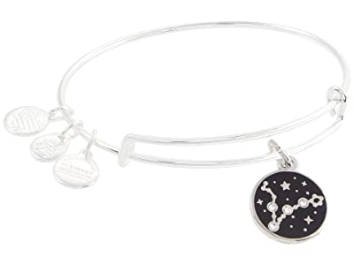 Alex and Ani Color Infusion Pisces Bangle Bracelet (Shiny Silver) Bracelet