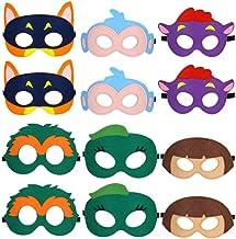 Park Ave Felt Masks for Dora The Explorer Party - 10 Masks - Comfortable, One-Size-Fits-Most Design - Premium Quality Eco-...