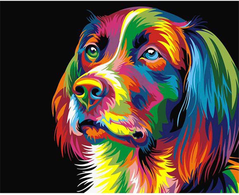 Malen Malen Malen Nach Zahlen Set Malen Nach Zahlen Für Junior Farbe Cartoon Hund Tier DIY Für Erwachsene Wohnkultur-Framed B07Q5M35HS | Üppiges Design  57b451