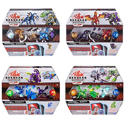 Bakugan Baku-Gear - Paquete de 4 Figuras de acción coleccio
