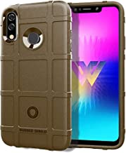 Mobile phone case Full Coverage Shockproof TPU Case for LG W30(Black) (Color : Brown)