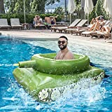 2021 Inflatable Pool Float Tank Battle Rafts Inflatable Toy with Water Squirt Gun for Adults Kids Funny Beach Outdoor Water Pool Party Toys