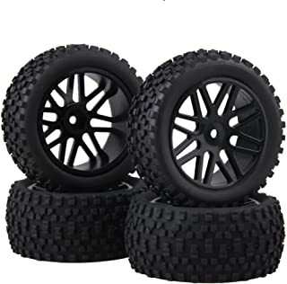 BQLZR Front and Rear Mesh Shape Wheel Rim Rubber Tires for RC 1:10 Off