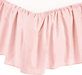 American Baby Company 100% Natural Cotton Percale Portable Mini Crib Skirt, Blush Pink, Soft Breathable, for Girls