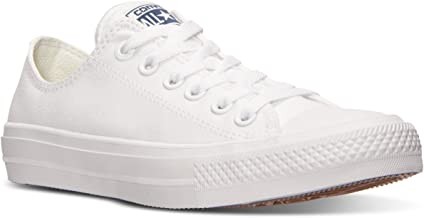 Converse Women's Chuck II Oxford Lace Up Sneakers ‑ White (9)
