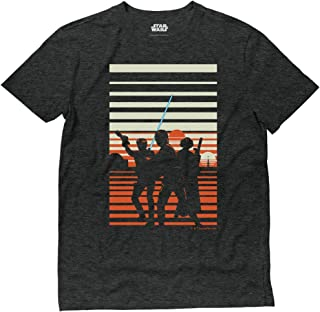 Official Star Wars Luke Han & Princess Leia Binary Tatooine Sunset T-Shirt