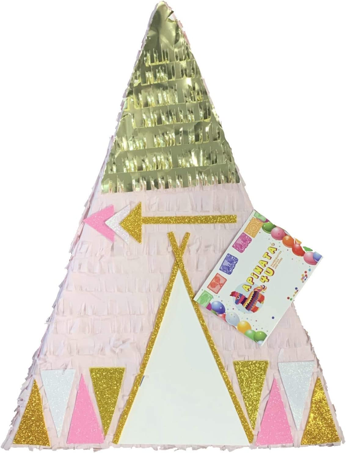 APINATA4U Large Tribal Themed Teepee Pinata 贈与 Gold A Pink with 爆買いセール and