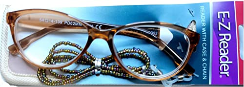 wholesale Foster Grant Women's Pink Cat Eye Reading Glasses w/ discount Case sale & Chain +2.75 outlet sale