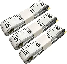 SumVibe 79 Inches/200cm Soft Tape Measure,Pocket Measuring Tape for Body Sewing Tailor Cloth Medical Measurement,White 3-Pack