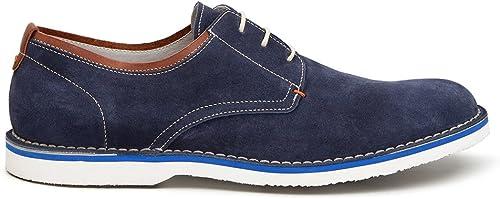 TJ Collection - Sandalias de Vestir de Ante para Hombre azul azul Marino