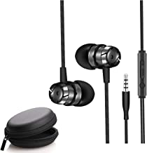 Wecool W001 Snug Fit Wired Earphone with Mic and MFB Controller 3.5 Mm Aux Dynamic Crystal Clear Sound for Music and Calls (Black)