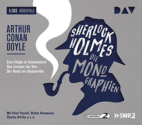 Sherlock Holmes 1 – Die Monographien: Hörspiele mit Peter Pasetti, Walter Renneisen, Charles Wirths u.v.a. (5 CDs) (Sherlock Holmes - die Hörspielklassiker)