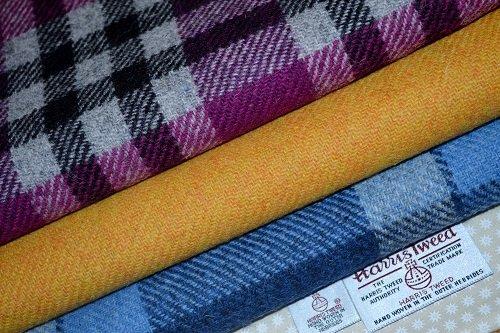Harris Tweed-Tela 100% pura lana virgen mixto Bundle 3x 36,5/25cm también se vende como metros & Half metros-ver Handmaiden UK Otros Rango de Harris Tweed