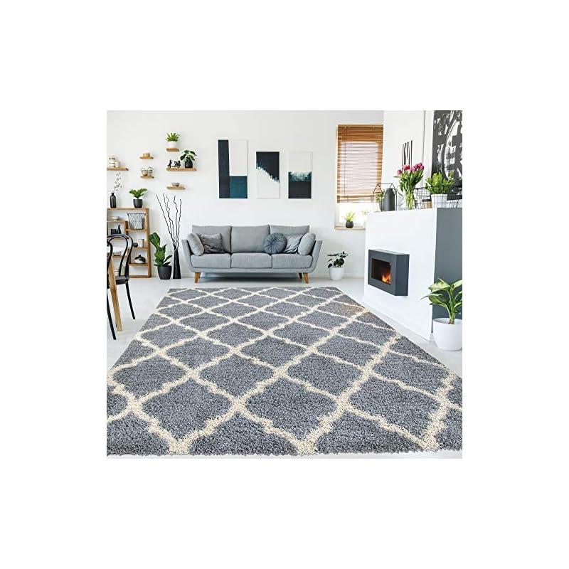 "crib bedding and baby bedding ottomanson collection trellis shag rug, 7'10"" x 9'10"", gray, 9 feet"
