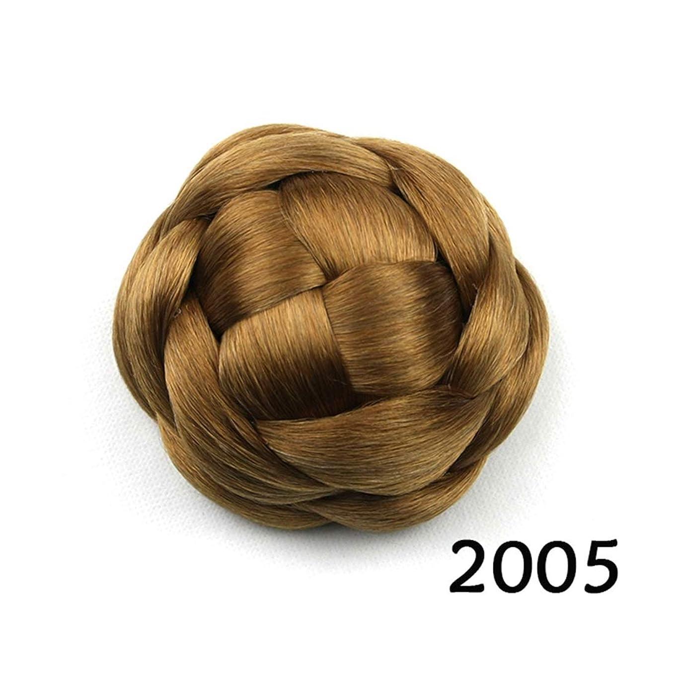 とらえどころのないクランシーどちらもJIANFU ブライダルヘッドドレスバンレディヘアピンスウィートフラワーリーボールヘッドヘア (Color : Color 2005)