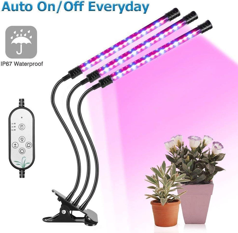 JKKL-B LED-Pflanzenlicht, 27W 54LED wasserdichtes Pflanzenlicht, rotes Spect blaues Spektrum, geeignet für Jede wachsende Saison,threeheads