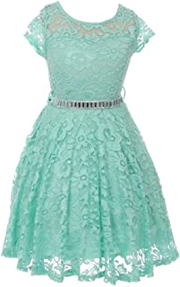 mint lace skater dress